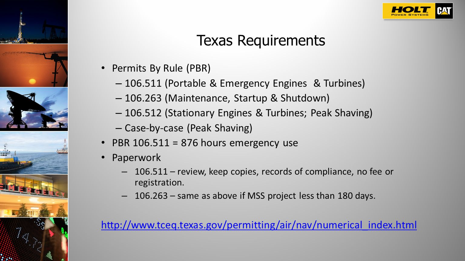 Texas Requirements Permits By Rule (PBR)