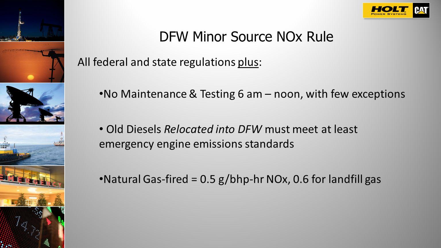DFW Minor Source NOx Rule