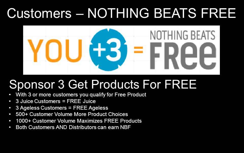 Customers – NOTHING BEATS FREE