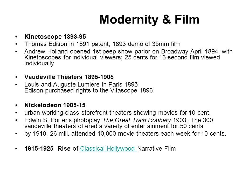 Modernity & Film Kinetoscope 1893-95