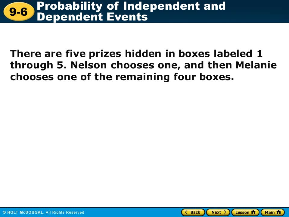There are five prizes hidden in boxes labeled 1 through 5