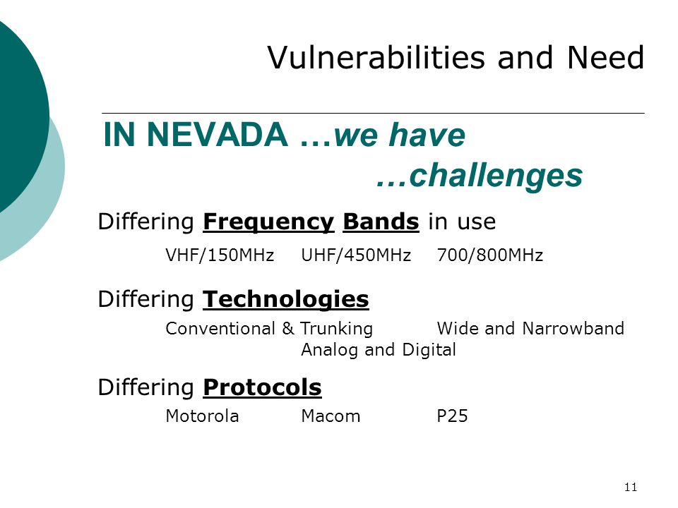 IN NEVADA …we have …challenges