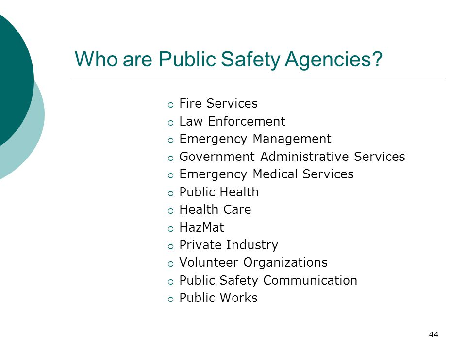 Who are Public Safety Agencies