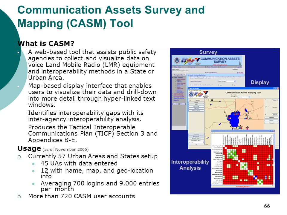Communication Assets Survey and Mapping (CASM) Tool