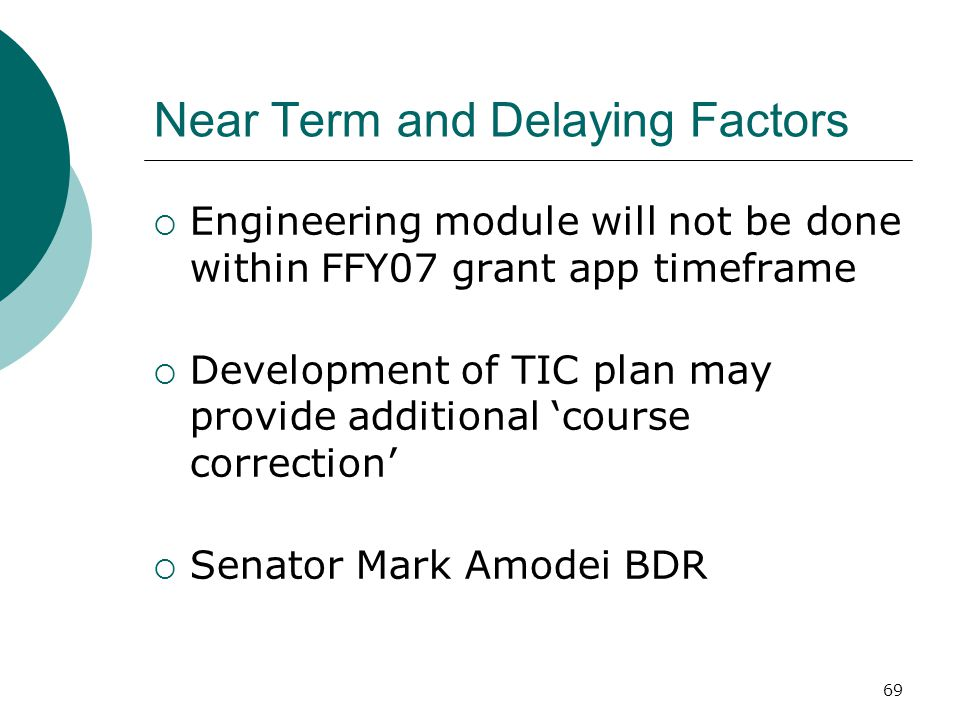 Near Term and Delaying Factors
