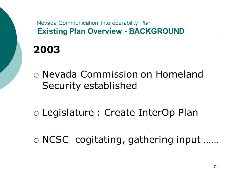 Nevada Commission on Homeland Security established