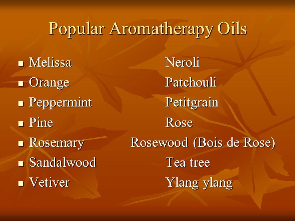 Popular Aromatherapy Oils