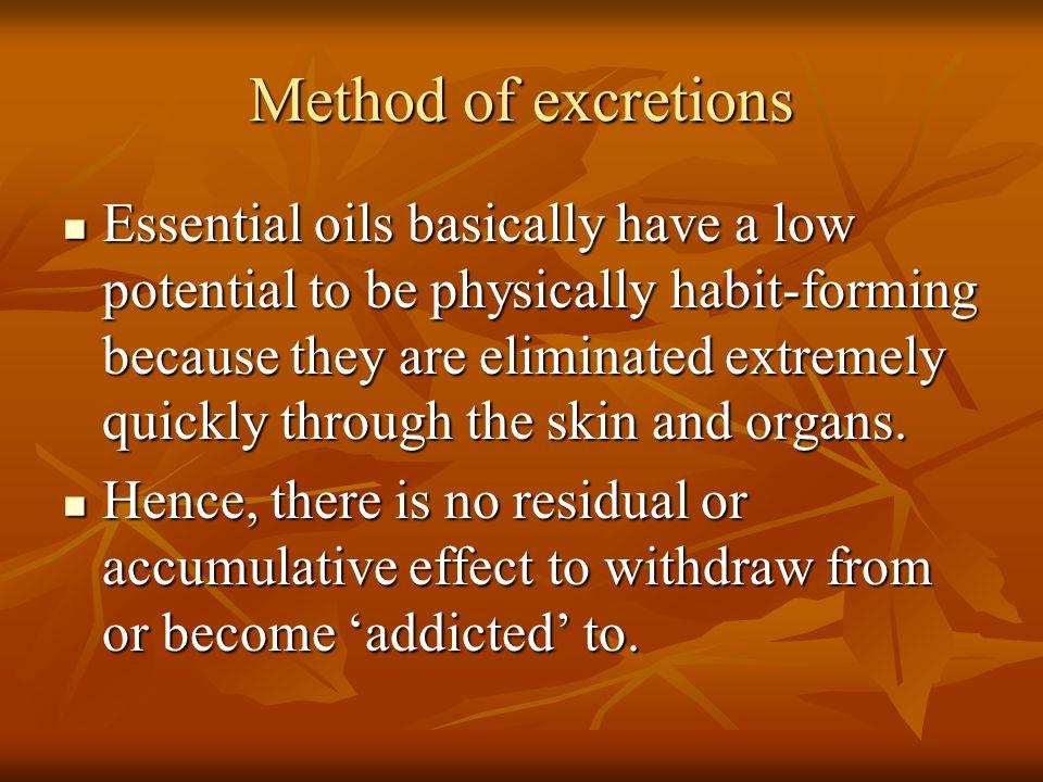 Method of excretions