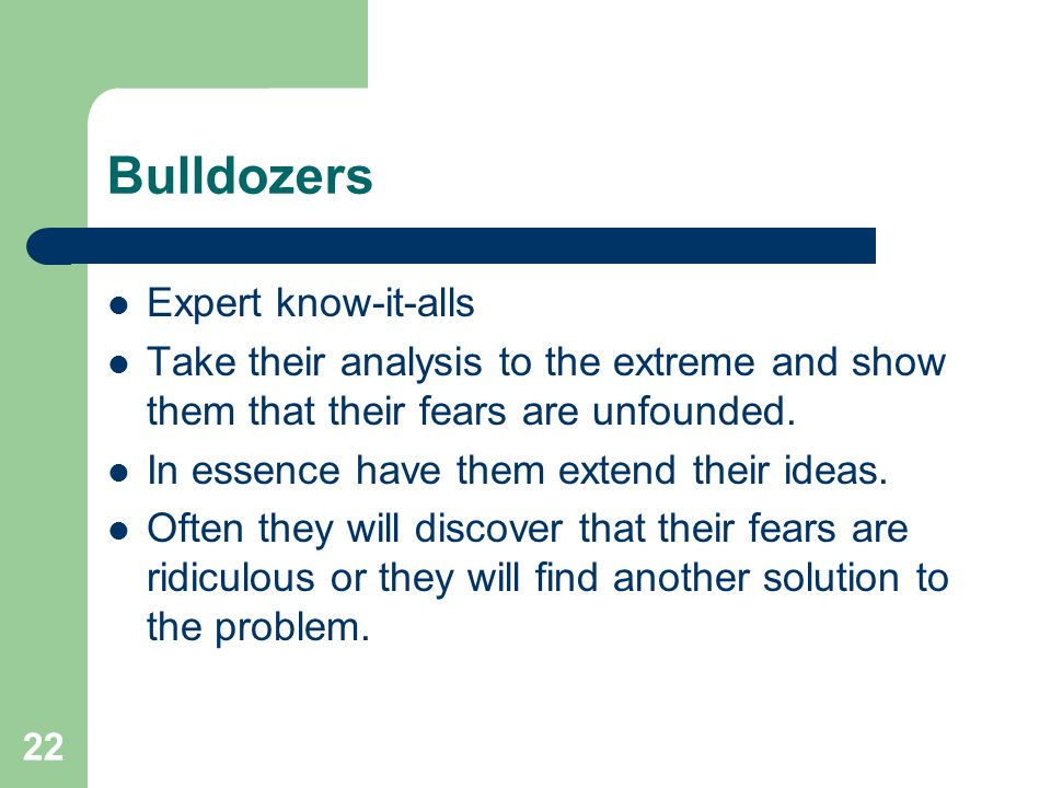 Bulldozers Expert know-it-alls