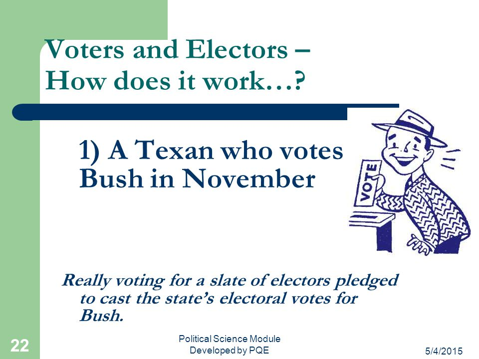Voters and Electors – How does it work…