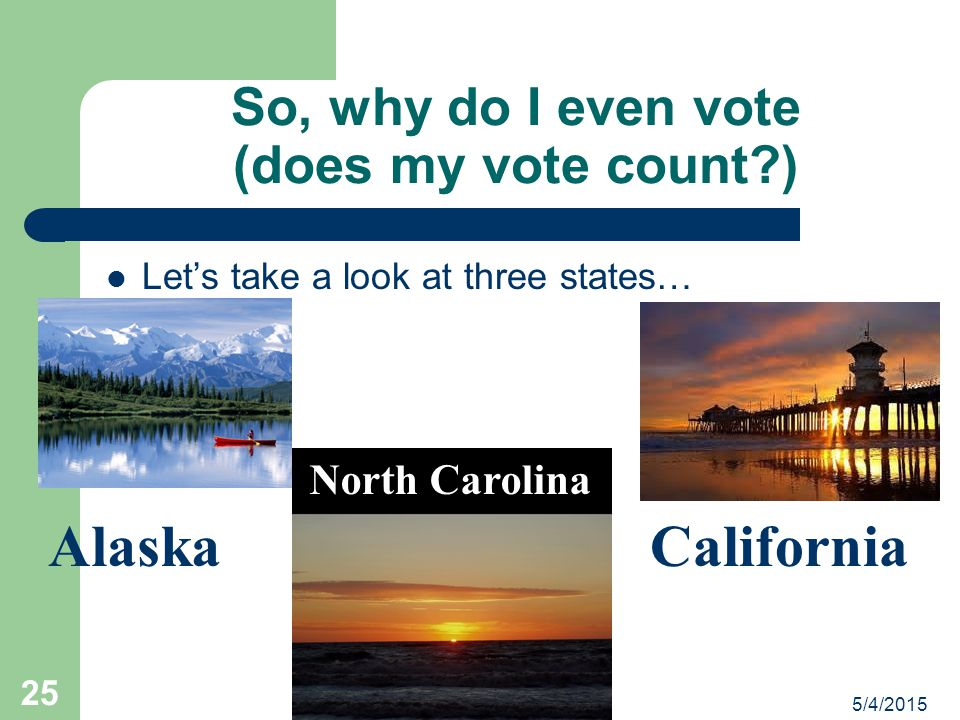 So, why do I even vote (does my vote count )