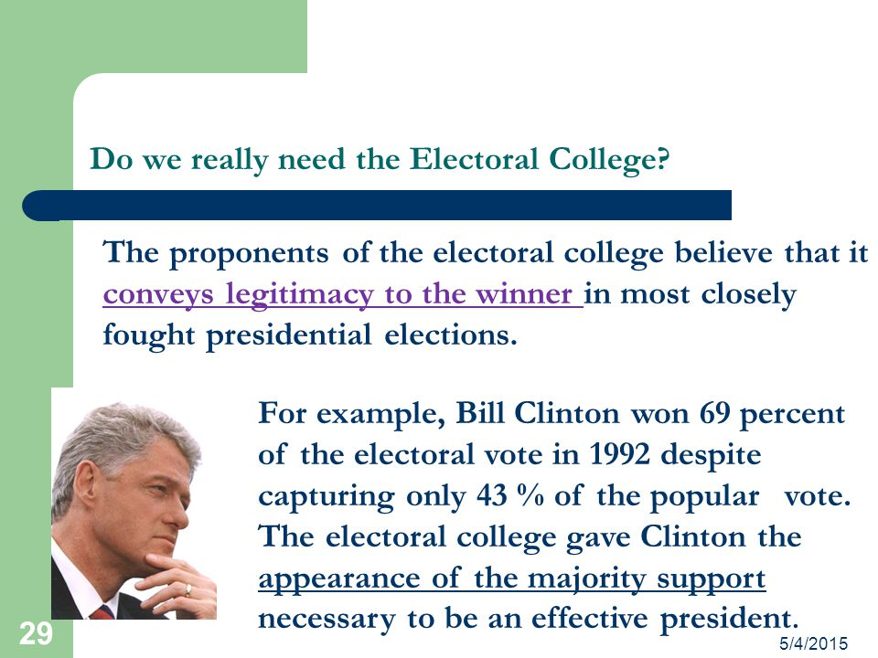 Do we really need the Electoral College