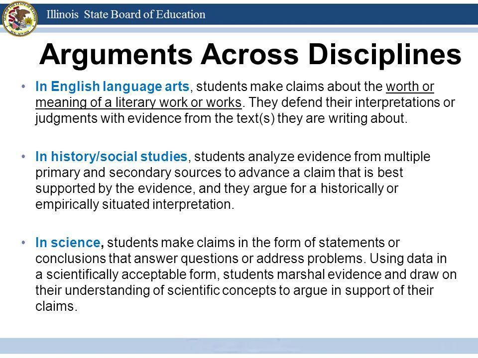 Arguments Across Disciplines