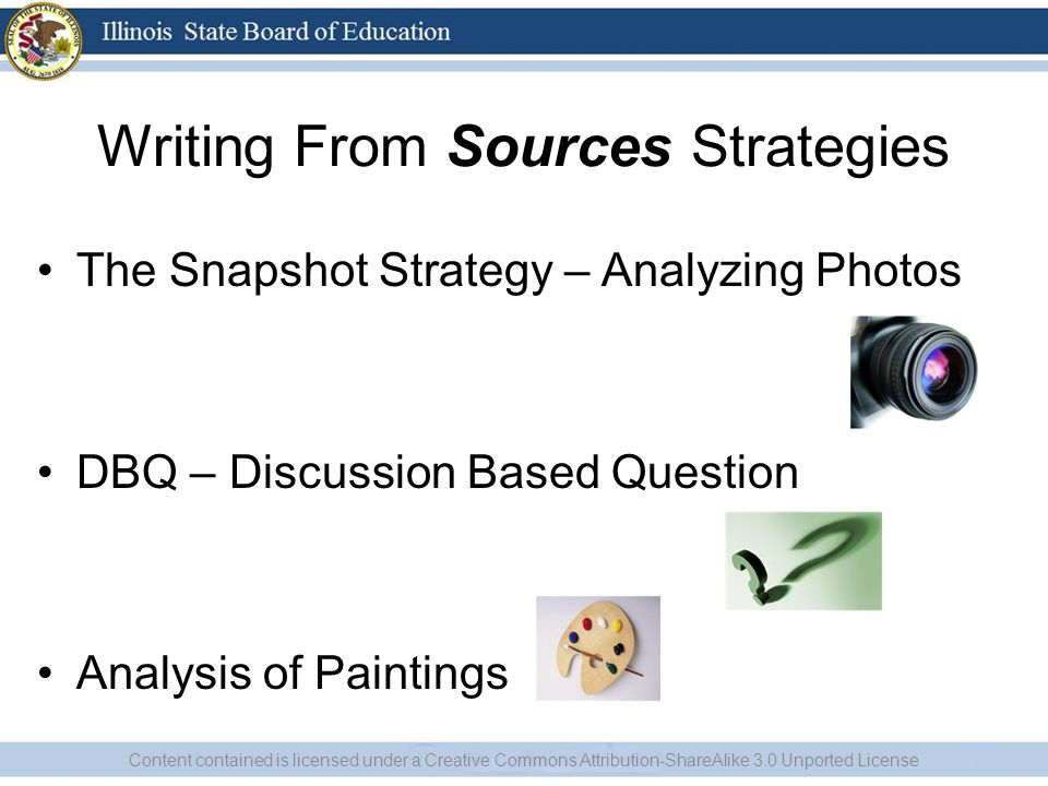 Writing From Sources Strategies