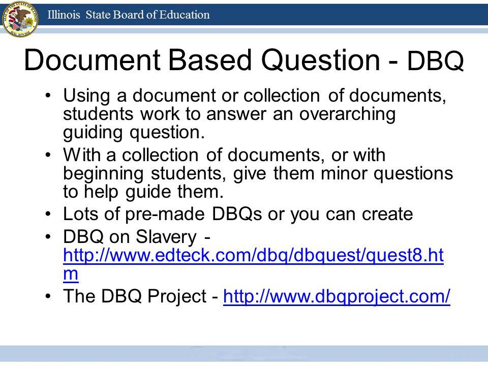 Document Based Question - DBQ