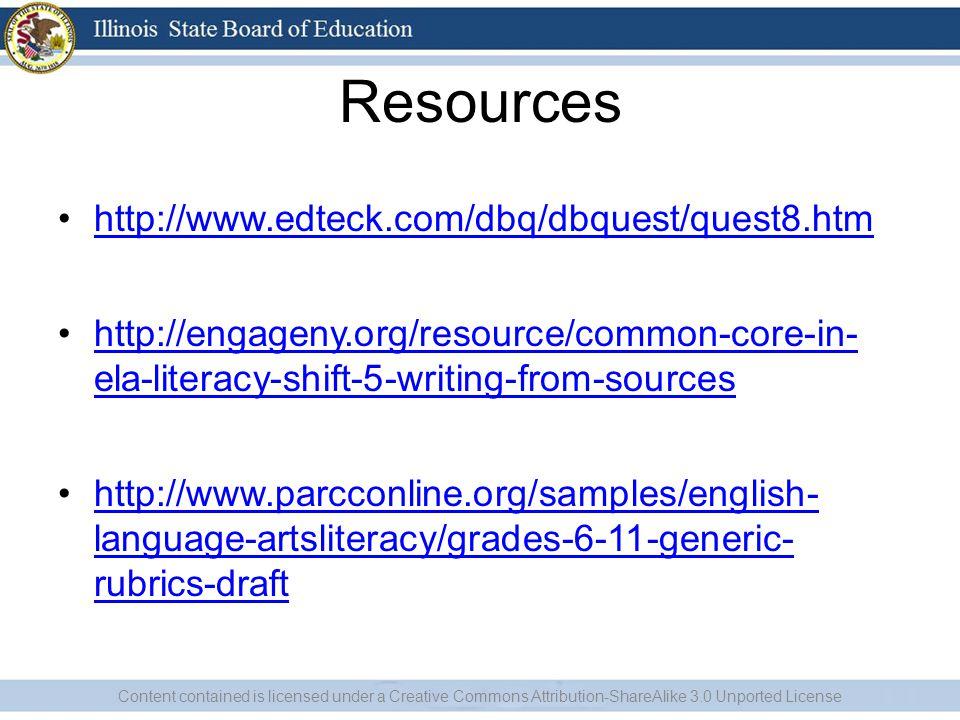 Resources http://www.edteck.com/dbq/dbquest/quest8.htm