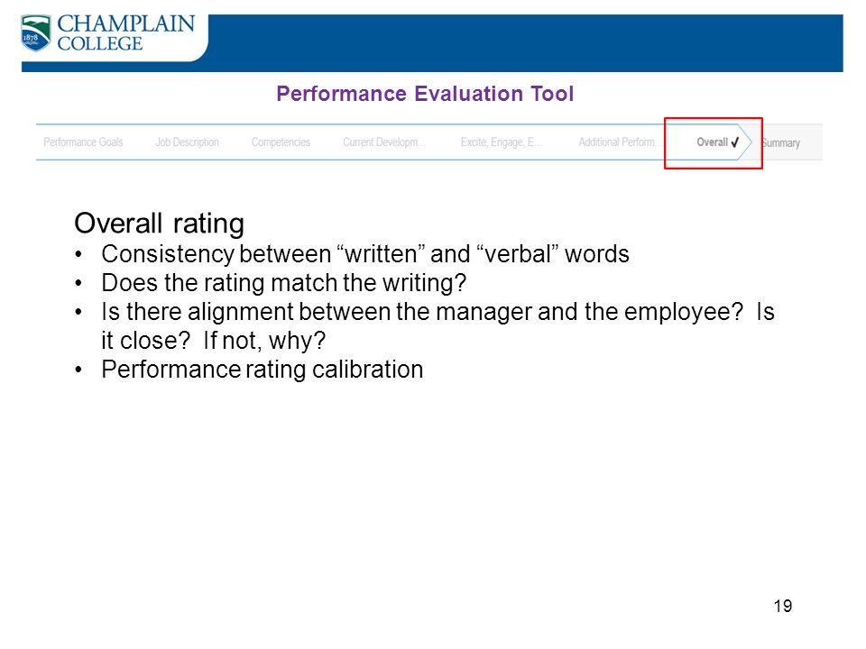 Overall rating Consistency between written and verbal words