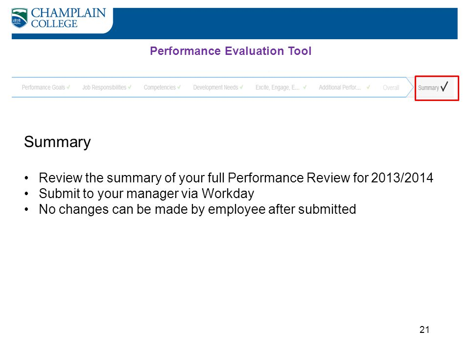 Performance Evaluation Tool