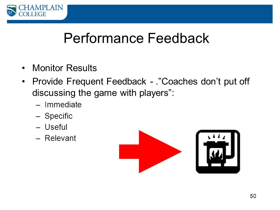 Performance Feedback Monitor Results