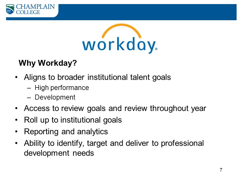 Aligns to broader institutional talent goals
