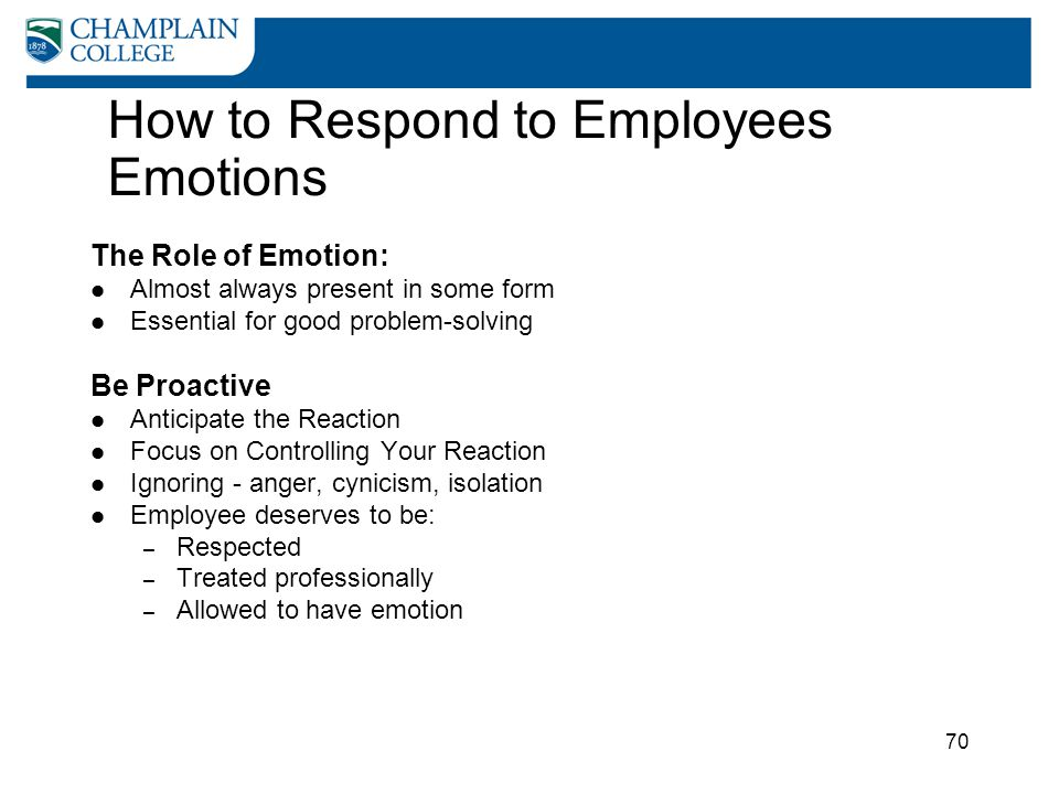 How to Respond to Employees Emotions