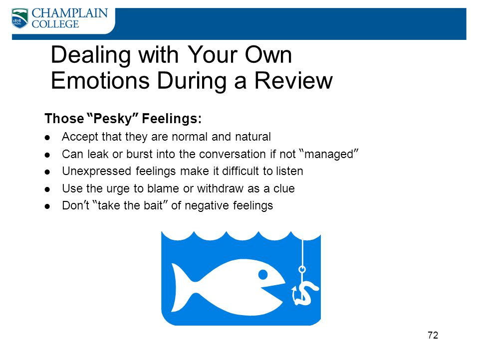 Dealing with Your Own Emotions During a Review