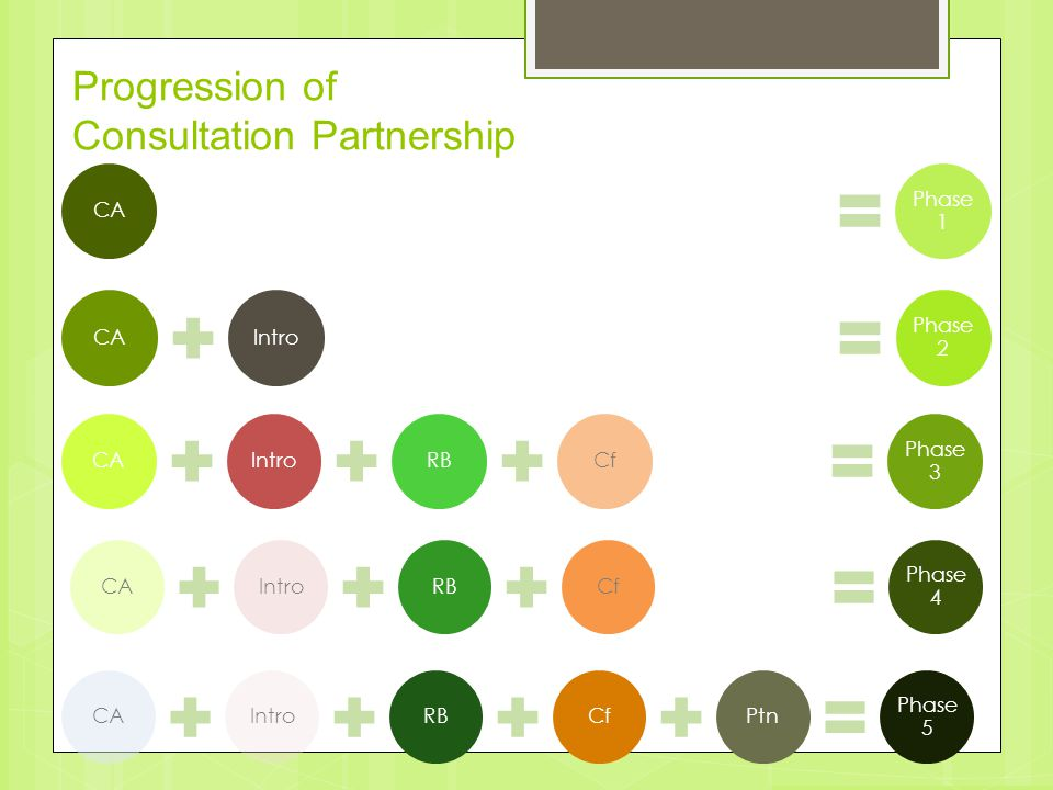 Progression of Consultation Partnership