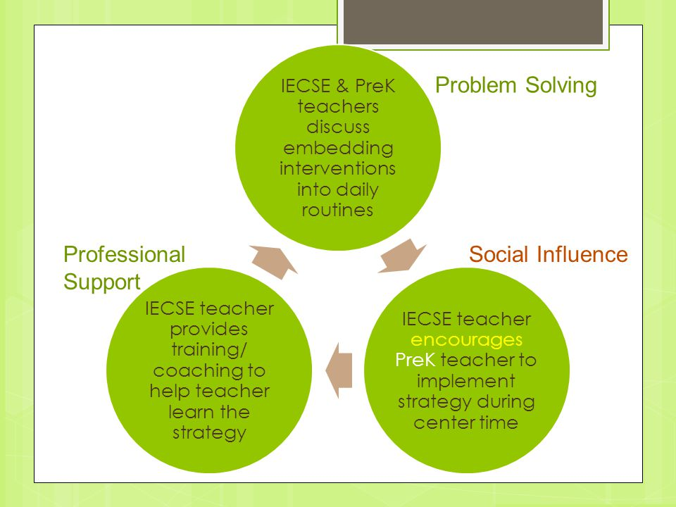 Problem Solving Professional Support Social Influence