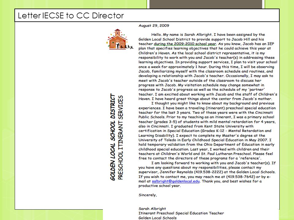 Letter IECSE to CC Director