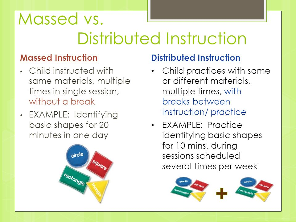 Massed vs. Distributed Instruction