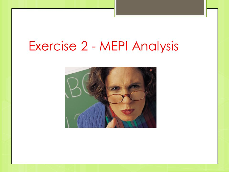Exercise 2 - MEPI Analysis