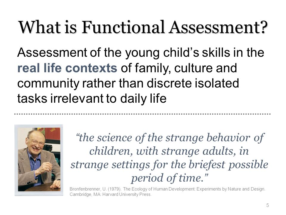 What is Functional Assessment