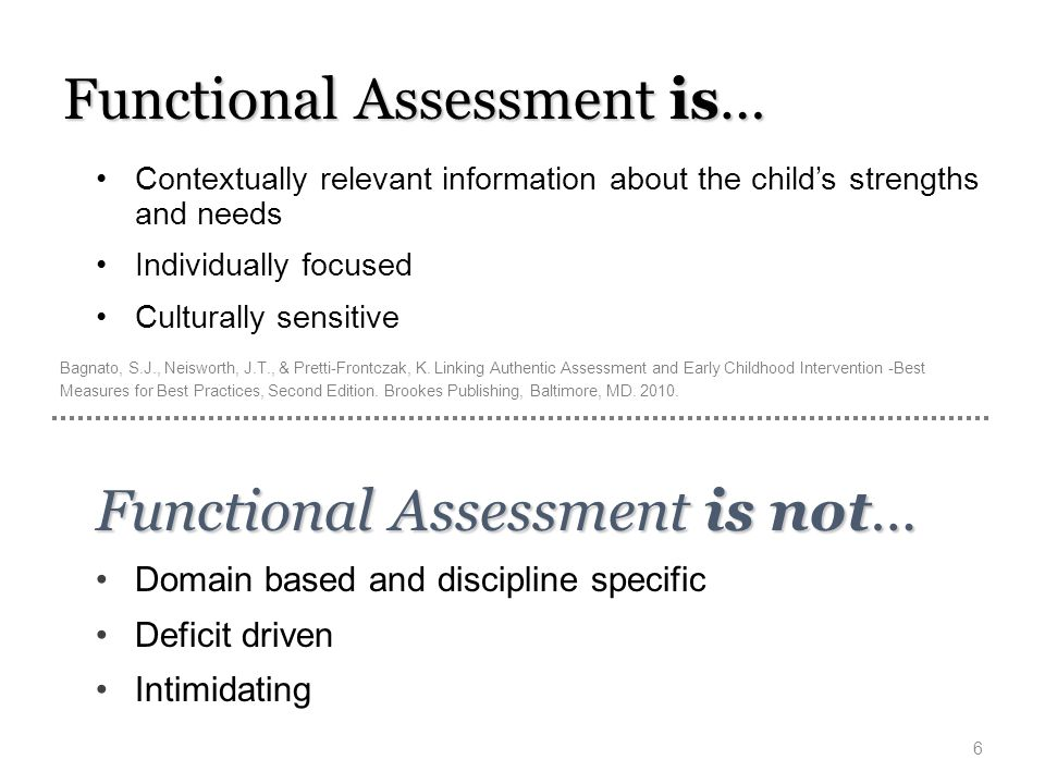 Functional Assessment is…