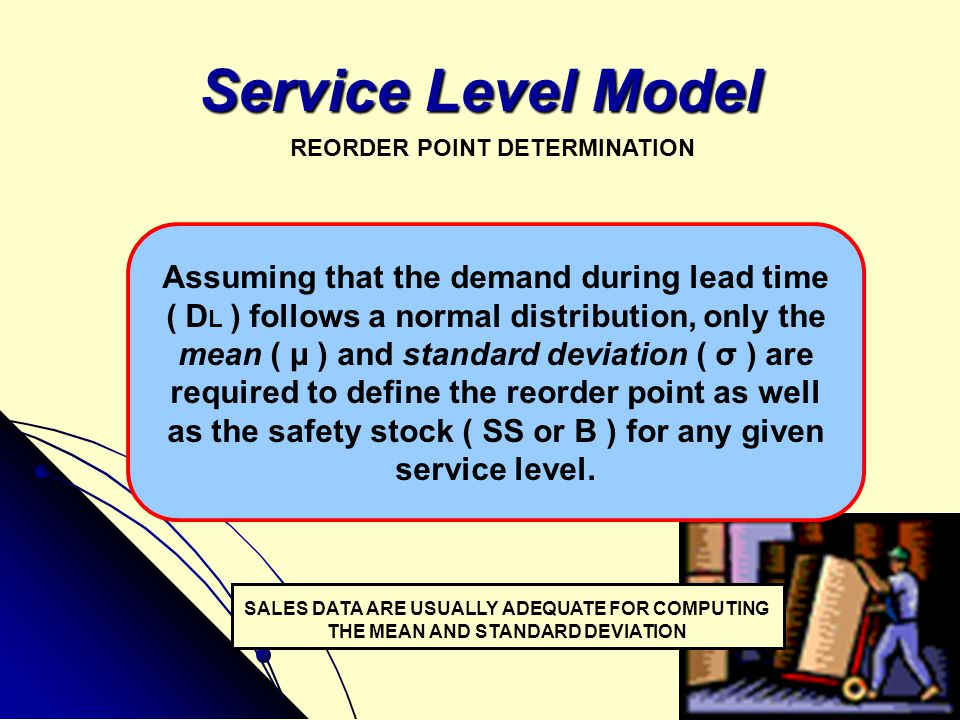 Service Level Model Assuming that the demand during lead time