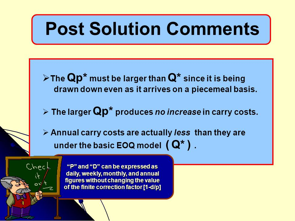 Post Solution Comments
