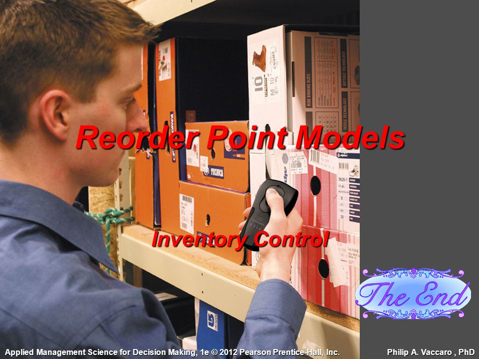 Reorder Point Models Inventory Control
