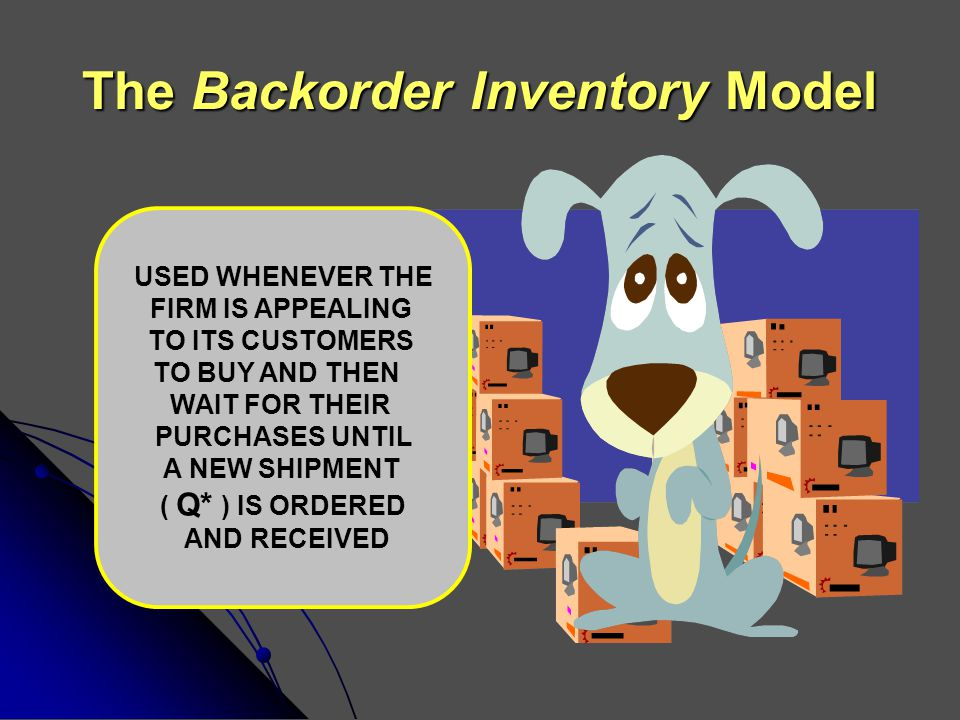 The Backorder Inventory Model
