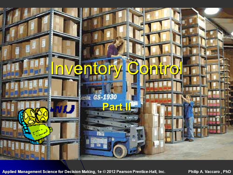 Inventory Control Part II