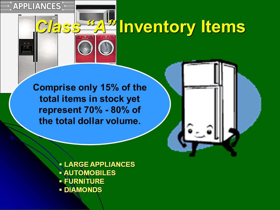 Class A Inventory Items