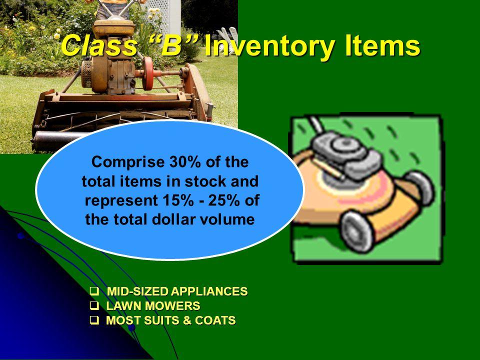 Class B Inventory Items