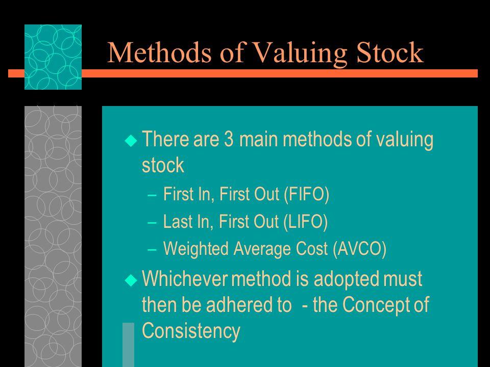 Methods of Valuing Stock