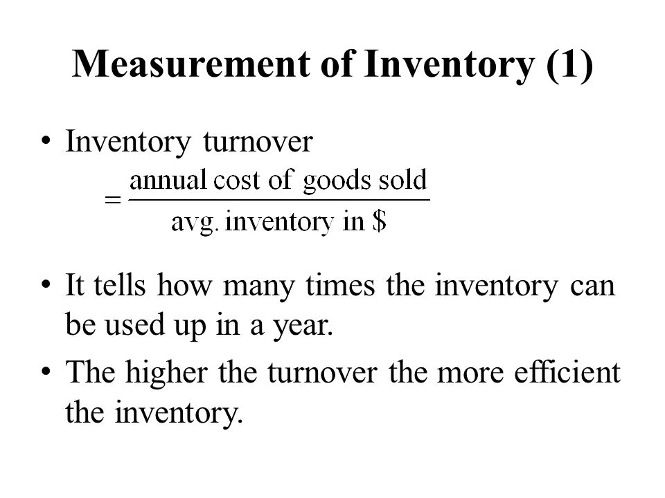 Measurement of Inventory (1)