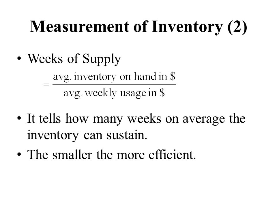 Measurement of Inventory (2)