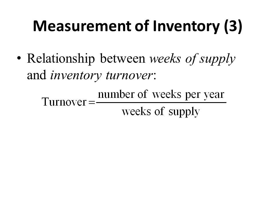 Measurement of Inventory (3)