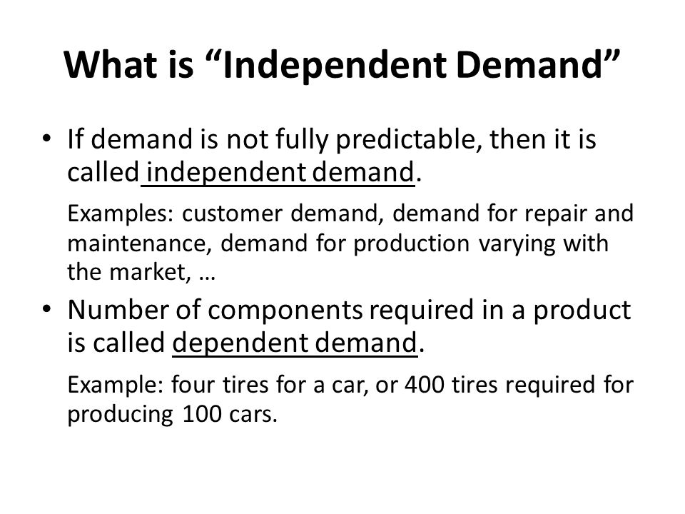 What is Independent Demand