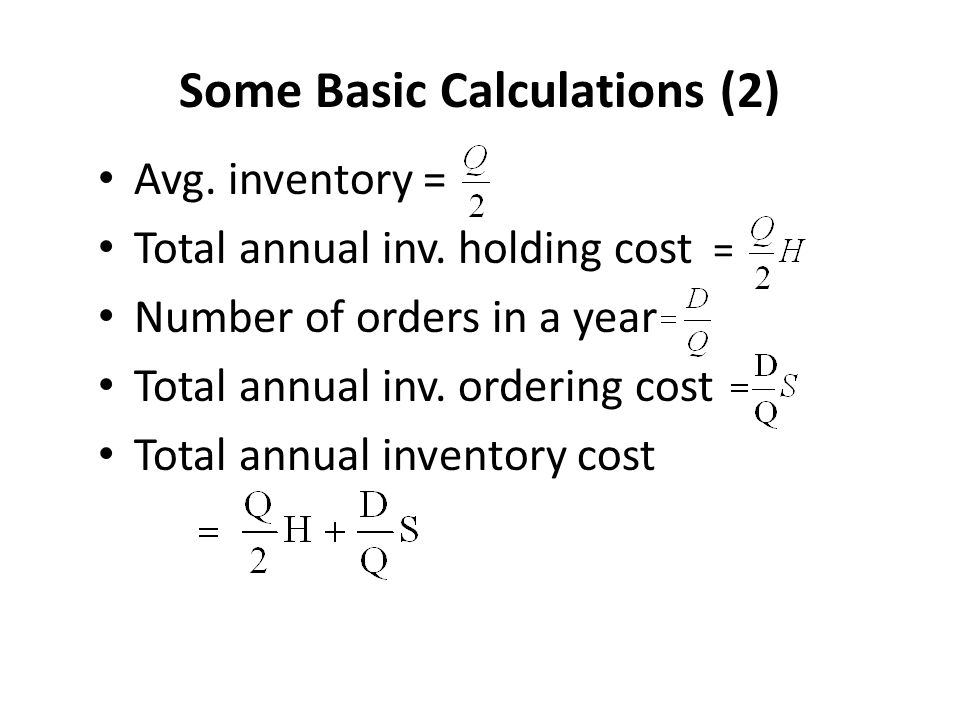 Some Basic Calculations (2)