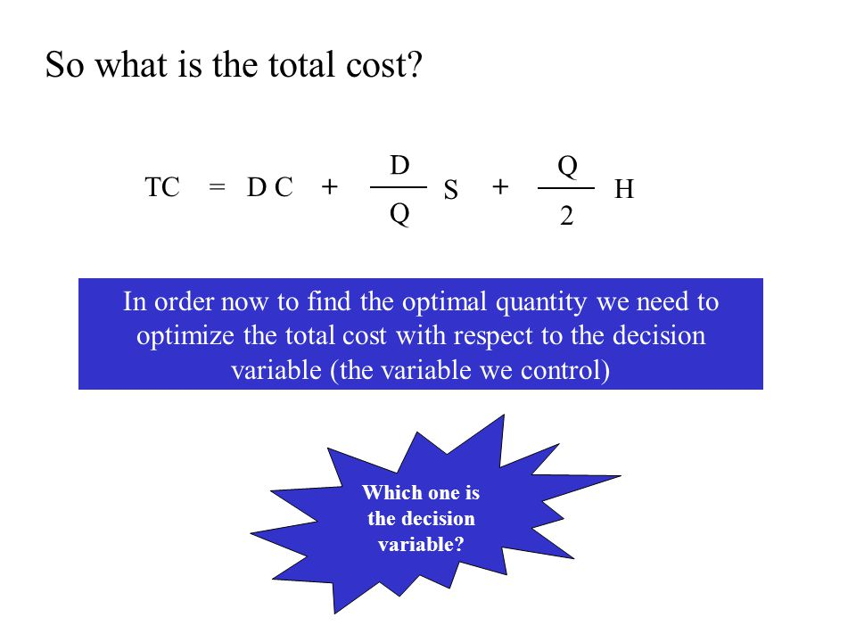 Which one is the decision variable