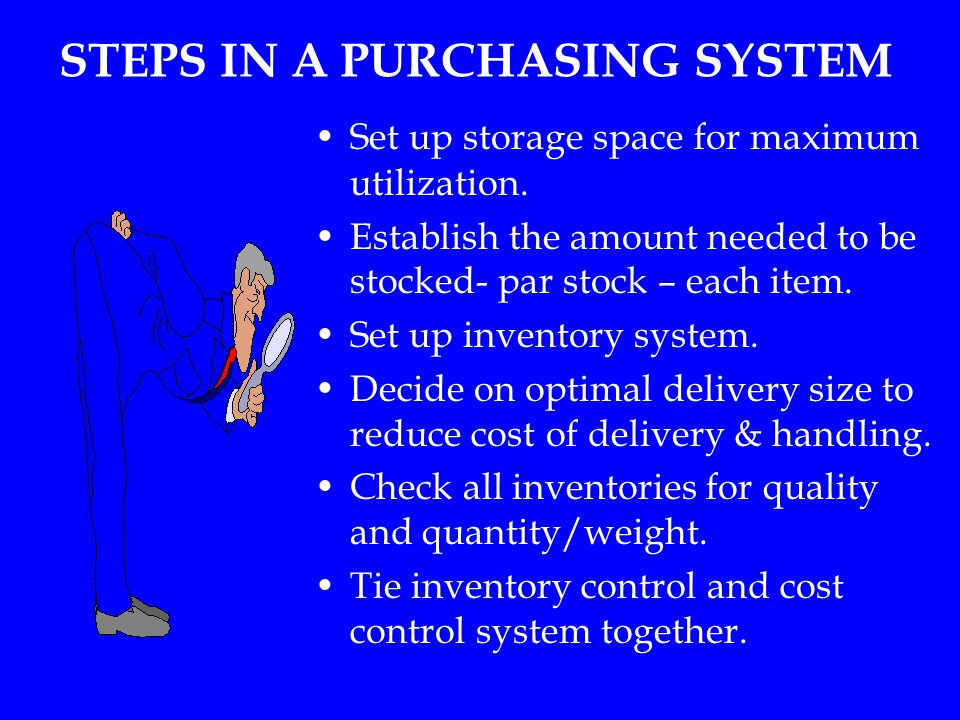 STEPS IN A PURCHASING SYSTEM