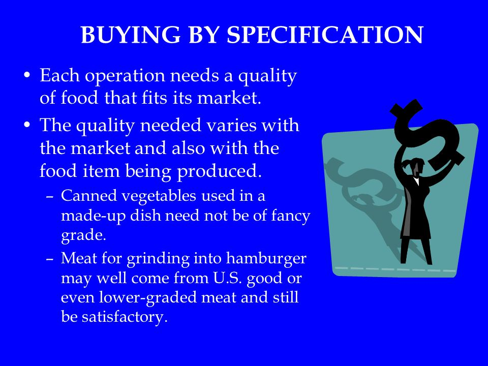 BUYING BY SPECIFICATION