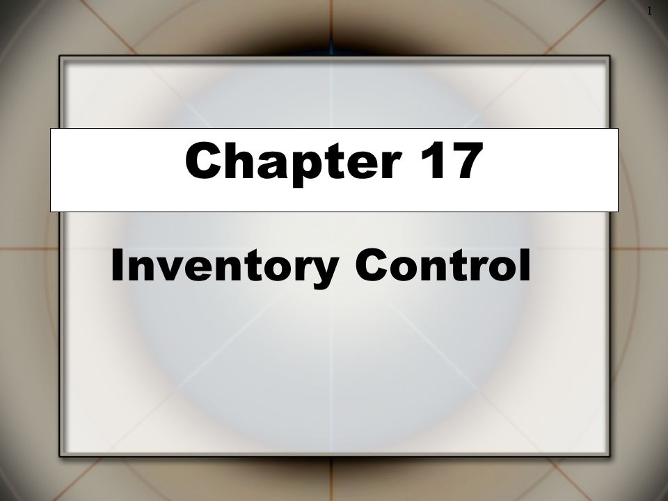 Inventory Control Chapter 17 2